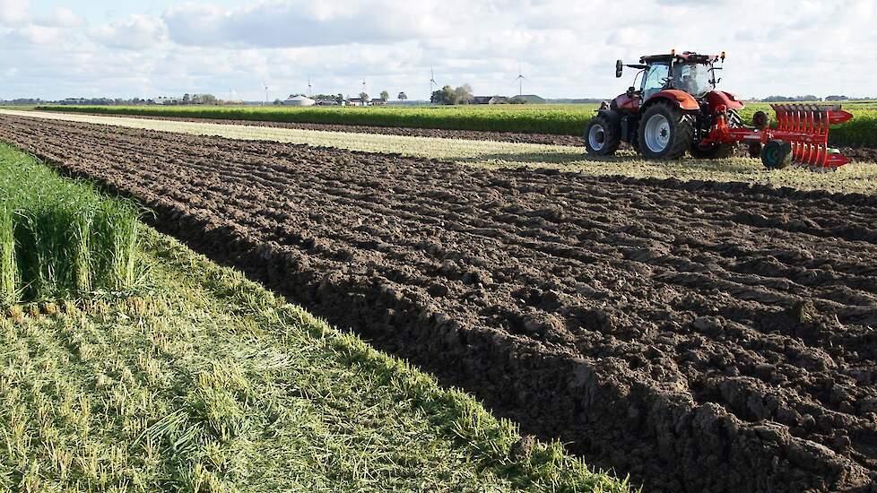 Minder intensief bewerken van de grond conserveert water