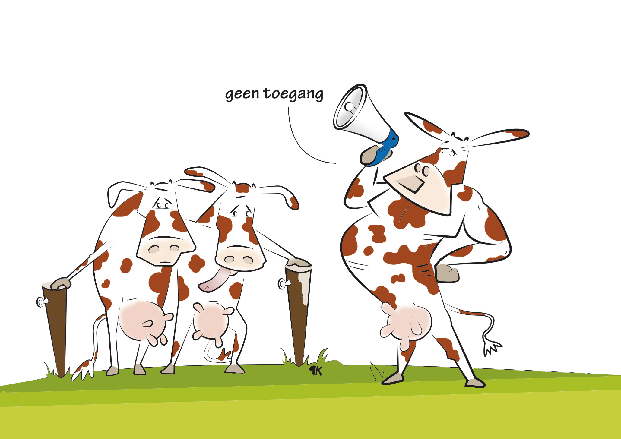 Rundveemest uitrijden op Brabantse groenbemester